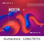 abstract color liquid shapes  ... | Shutterstock .eps vector #1288178752