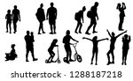 silhouettes of people in... | Shutterstock .eps vector #1288187218