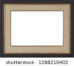 picture frame isolated on white ... | Shutterstock . vector #1288210402