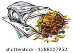 food truck burrito | Shutterstock .eps vector #1288227952