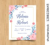 save the date wedding... | Shutterstock .eps vector #1288228645