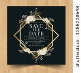 save the date wedding... | Shutterstock .eps vector #1288228648