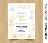 save the date wedding... | Shutterstock .eps vector #1288228942