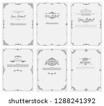 vector set of greeting cards... | Shutterstock .eps vector #1288241392