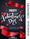 valentines day party design... | Shutterstock .eps vector #1288246282