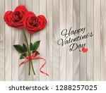 valentine's background with two ... | Shutterstock .eps vector #1288257025