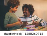 dad most likes to play with you.... | Shutterstock . vector #1288260718