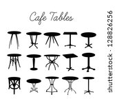 vector cafe table collection ... | Shutterstock .eps vector #128826256