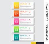 infographics template 5 options ...   Shutterstock .eps vector #1288264948