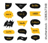 set of bubbl banners with... | Shutterstock .eps vector #1288267348