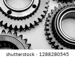 metal gears isolated on a white ... | Shutterstock . vector #1288280545