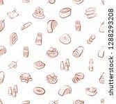 american food  japanese food ... | Shutterstock .eps vector #1288293208
