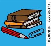 school teacher pupil board...   Shutterstock .eps vector #1288307545