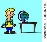 school teacher pupil board...   Shutterstock .eps vector #1288307548