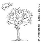 abstract tree.hand drawn tree... | Shutterstock .eps vector #1288315732