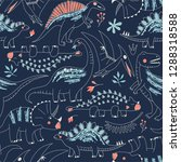 childish seamless pattern with... | Shutterstock .eps vector #1288318588