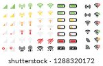 mobile phone system icons...   Shutterstock .eps vector #1288320172