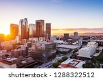 los angeles downtown skyline at ... | Shutterstock . vector #1288322512