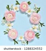 a delicate wreath of pink... | Shutterstock . vector #1288324552