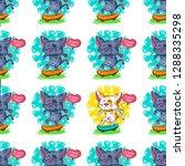 vector illustration about cat... | Shutterstock .eps vector #1288335298