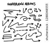 drawn arrow set illustration... | Shutterstock .eps vector #1288348555