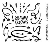 drawn arrow set illustration... | Shutterstock .eps vector #1288348618