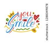 you make me smile inspirational ... | Shutterstock .eps vector #1288349878