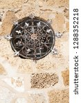 decorative round window grill... | Shutterstock . vector #1288352218