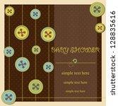 baby shower   boy | Shutterstock .eps vector #128835616