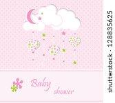 baby shower   girl | Shutterstock .eps vector #128835625