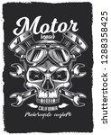 skull in motorcycle glasses on... | Shutterstock .eps vector #1288358425