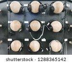 department of headphones in the ... | Shutterstock . vector #1288365142