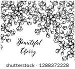 beautiful cherry  vector... | Shutterstock .eps vector #1288372228