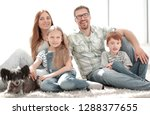 close up.portrait of a happy... | Shutterstock . vector #1288377655