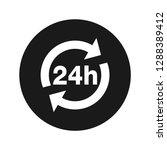 24 hours update icon vector...   Shutterstock .eps vector #1288389412