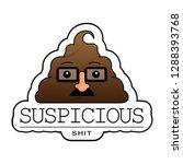 suspicious shit sticker with...   Shutterstock .eps vector #1288393768