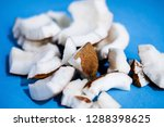 close up raw fresh coconut... | Shutterstock . vector #1288398625