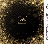 gold glitter transparent... | Shutterstock .eps vector #1288402252