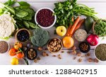 healthy food clean eating  ... | Shutterstock . vector #1288402915