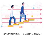 step up and schedule of... | Shutterstock .eps vector #1288405522
