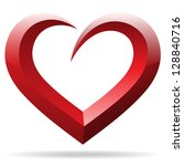 heart shape sign raster version | Shutterstock . vector #128840716