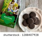 box of girl scout thin mints... | Shutterstock . vector #1288407928