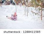 portrait of little girl... | Shutterstock . vector #1288411585