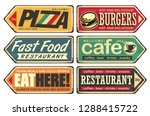 retro signs collection. ... | Shutterstock .eps vector #1288415722