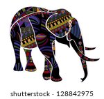elephant from different... | Shutterstock . vector #128842975