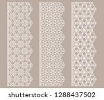 vector set of line borders with ... | Shutterstock .eps vector #1288437502