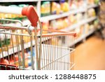 shopping trolley cart with... | Shutterstock . vector #1288448875
