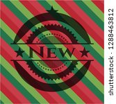 new christmas colors emblem. | Shutterstock .eps vector #1288463812