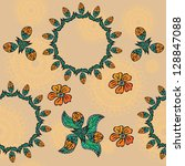 seamless floral texture. vector | Shutterstock .eps vector #128847088