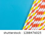 paper straws on a solid... | Shutterstock . vector #1288476025